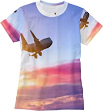 Bei Tang Flying to South America from Australia T Shirts for Women Top Tee Crew Neck Performance T-Shirt
