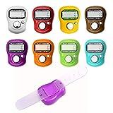 Baij contador manual,8 pcs contadores de dedos digital counter lap lcd electronic contadores de vueltas plástica contador de personas número de clicker