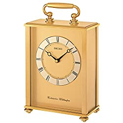 SEIKO CARRIAGE MANTLE CLOCK QHJ201G