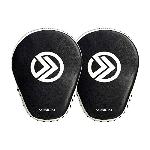 Onward Vision Focus Mitt - Focus Pads for Boxing, Kickboxing Muay Tai, MMA - Hook and Loop Adjustment for Secure Fit 'Black and White