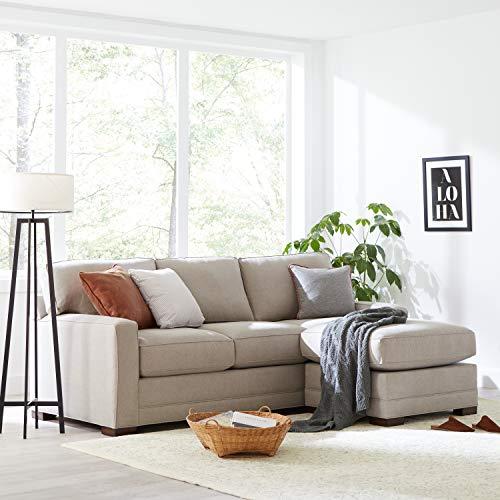"Amazon Brand – Stone & Beam Dalton Chaise Sectional Sofa Couch, 91.5"", Stone"