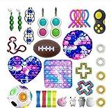 SXHYL Fidget Toys Pack Barato, Antiestres Fidget Toy Set, Fidget Toy Set,Alivia El Estrés Ansiedad Fidget Toy Juego De Juguetes Fidget,Juguetes Sensoriales Fidget Toy