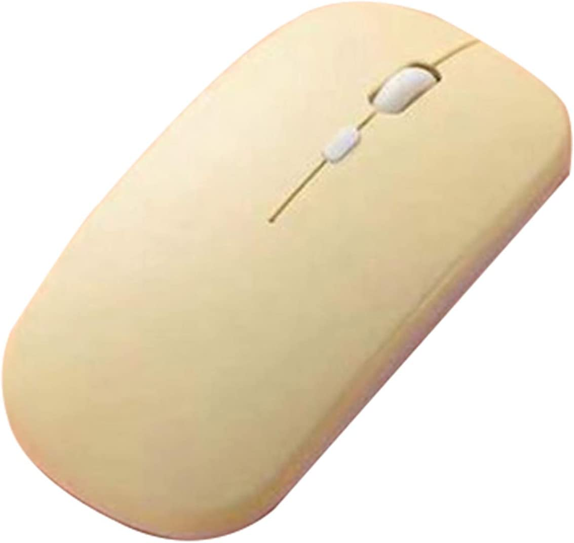 OCUhome Wireless Mouse Compatible with iPad, Mini Wireless 800/1200/1600DPI Solid Color Mouse Keyboard Computer Accessory Yellow 1