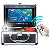Underwater Fishing Camera, Portable Ice Fishing Camera with 30 Adjustable LEDs and 7inch 1080P IPS Monitor with DVR 16GB SD Card Fishing Video Camera for Ice, Lake, Boat, Sea (30M)