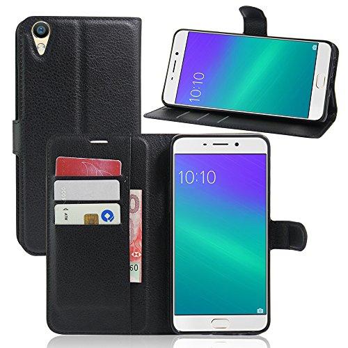 Litao-Case CN Hülle für Oppo R9 Plus hülle Flip Leder + TPU Silikon Fixierh Schutzhülle Case 9