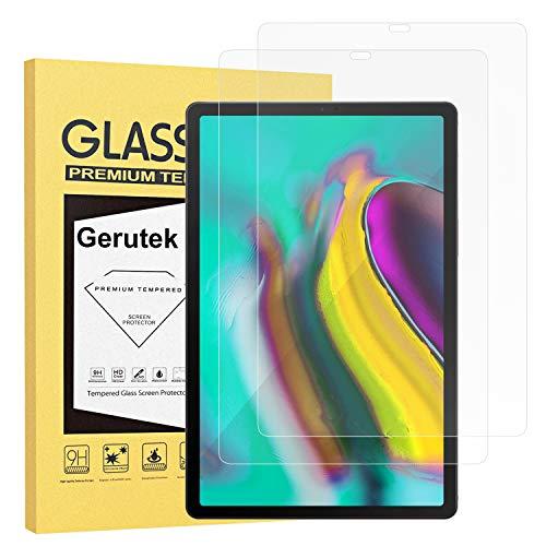Gerutek [2 Stück Schutzfolie Samsung Galaxy Tab S5e / S6 10.5-Zoll, 9H Härte, Anti-Kratzer, Anti-Öl, Anti-Bläschen, 2.5D Displayfolie Für S6 10.5 T860/865, Panzerglas Displayschutz Für S5e T720/T725