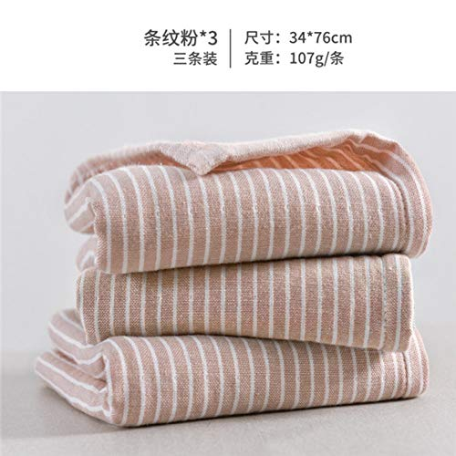 XNBCD 3 stuks/set van volwassen katoenen handdoek gestreepte handdoek gezichtsverzorging