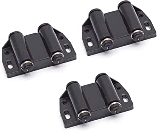 Autoly Double Magnetic Touch Catch Press Cabinet Drawer Magnetic Latch,Pack of 3 (Black)