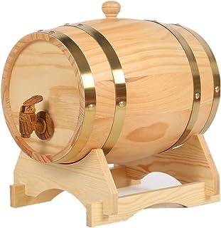 ZHhome Tonneau à vin en Bois Fûts de Chêne, Fûts de Chêne de Bois Vintage de 1,5 Litre for La Vinification ou Le Stockage ...