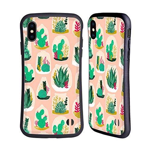 Officiële Andrea Lauren Design Terrarium Plant Patroon Hybrid Case Compatibel voor Apple iPhone XS Max