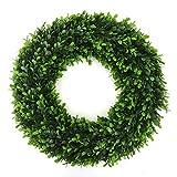 3rd Street Inn Soft Touch Holly Wreath - Front Door Wreath - Greenery Wreath - Indoor/Outdoor Wreaths for Front Door - Farmhouse Wreath - Spring Wreath/Summer Wreath/Winter Wreath (22' / XL)