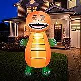 HOOJO 8 FT Halloween Inflatables Pumpkins Dinosaur...