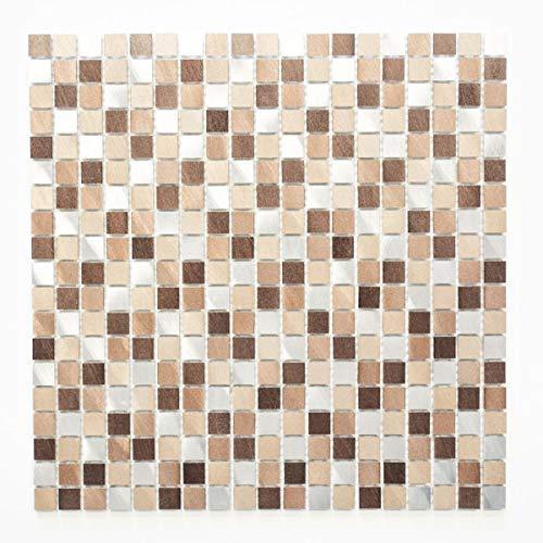 Lampada a mosaico mosaico piastrelle di rete quadrato alluminio Mix in alluminio/rame alluminio metallo