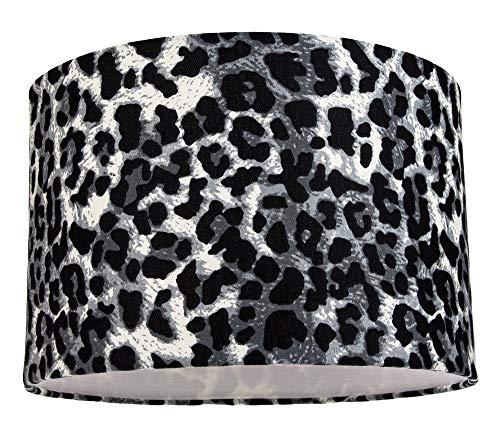 Lámpara de mesa/lámpara colgante moderna y elegante con estampado de leopardo de las nieves en...