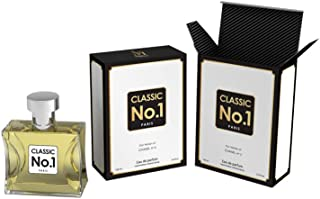 Classic No. 1 Designer Perfume for Women (3.4 oz.) Clean, Sexy Fragrance, Eau De Parfum Spray with a NovoGlow Suede Pouch