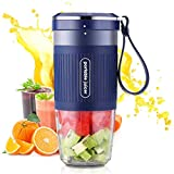 Godmorn Portable Blender, Smoothie Blender Portable, Petit mélangeur USB, mélangeur de Fruits, Rechargeable, sans BPA, 300ml pour Le Bureau de Voyage de Sports de Plein air à la Maison