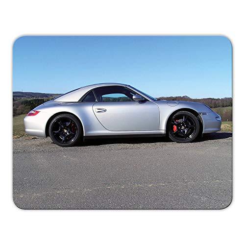 Addies Mousepad 'Porsche' schönes Mauspad Motiv in feiner Cellophan Geschenk-Verpackung mit Kautschuk Untermaterial, 24x19cm - MP01