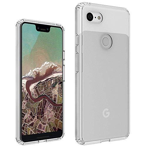 PaceBid Google Pixel 3 Hülle Case, Crystal Clear Transparent Handyhülle Cover Soft Premium TPU Durchsichtige Schutzhülle für Google Pixel 3