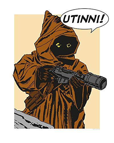 Komar Wandbild Star Wars Classic Comic Quote Java | Kinderzimmer, Jugendzimmer, Dekoration, Kunstdruck | ohne Rahmen | WB115-40x50 | Größe: 40 x 50 cm (Breite x Höhe)