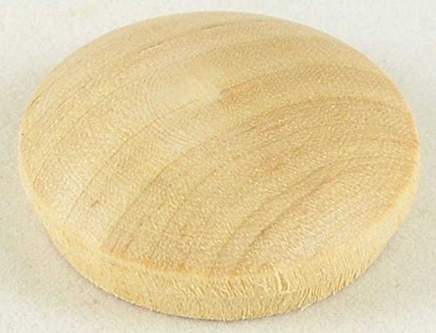 G59 3/4 Inch Birch Wood Mushroom Button / Package of 10