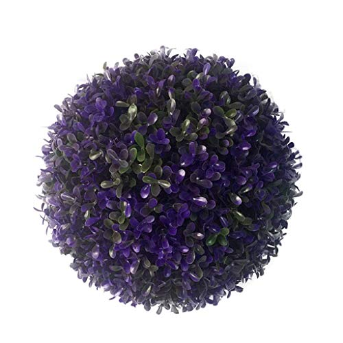 HXCD Künstliche Pflanzen Grass Ball, Simulation Grass Ball Gehobene Kunststoff Erdnuss Grass Ball das Einkaufszentrum Dekoration, Lila, 20cm