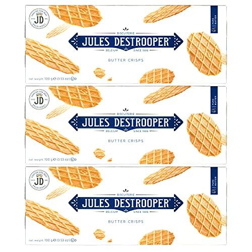 ジュールス デストルーパー バタークリスプ 100g 3箱セット ベルギー ワッフル フランダース ベルギー王室御用達品