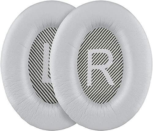 QC35 II Coussinets d'oreille de rechange Qc35 Compatible avec casque sans fil Bose QuietComfort 35 II/35 Argenté