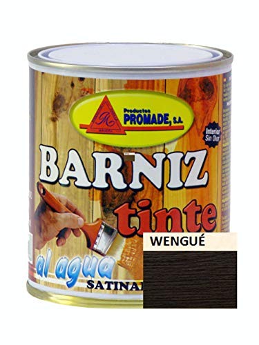 PROMADE - Barniz tinte satinado agua 750 ml Wengue