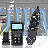 Network Cable Tester Hollee 4 in 1 PoE Tester Inline with NVC for CAT5e/CAT6/CAT6a 3 Scan Modes RJ45 Cable Tester with Lamp for PoE Voltage PSE Standards Measure Cable Fault Distance NF-8209
