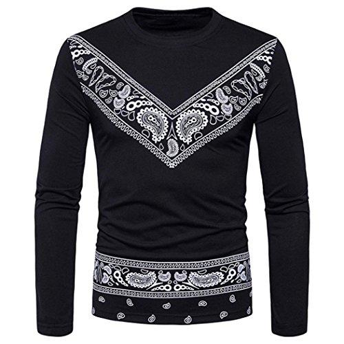 Heiß Verkauf ! Kobay Vintage Mode Herren Slim Fit Freizeithemd T-Shirt Langarm T-Shirts Tops
