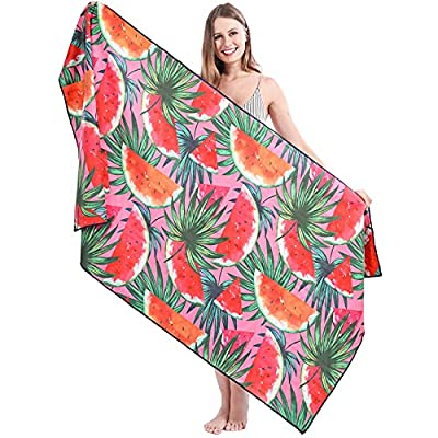 """Beach Towel, Microfiber Beach Towels Oversized for Adults, 75"""" x 35"""", Quick Dry, Sand Free, Absorbent, Compact, Beach Blanket, Lightweight Towel for The Swimming, Sports, Beach"""
