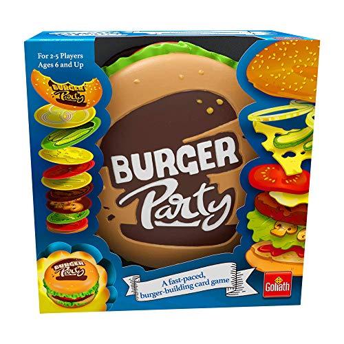 Goliath Games Burger-Party, einfaches und schnelles Familienspiel für Kinder ab 6 Jahren, Mehrfarbig
