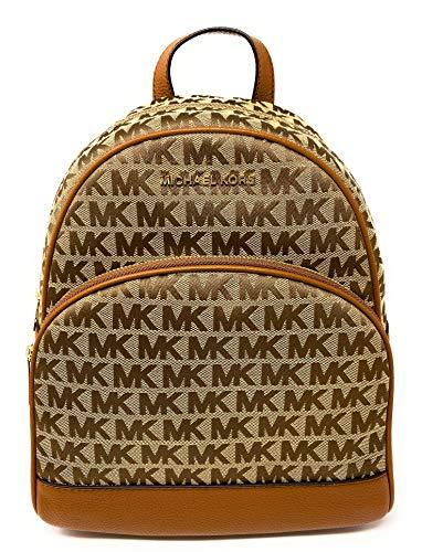 Michael Kors Women's Abbey Large Backpack (Biege/Ebony/Luggage)