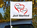 "Autoflagge/Autofahne – bedruckt ""Just Married 2"