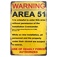 警告エリア51プラークメタルヴィンテージブリキ看板壁ポスターバーガレージホームアートヴィンテージ壁の装飾-20x30cm