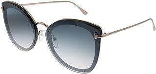 Sunglasses Tom Ford FT 0657 Charlotte 01C shiny black/smoke mirror