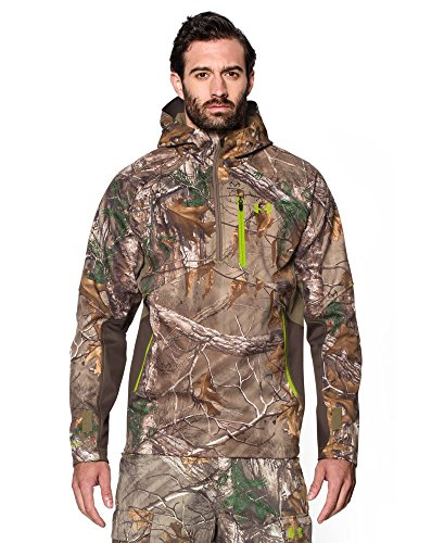 Under Armour Coldgear Infrared Scent Control Softershell Anorak Jacket - Men's Realtree Ap Xtra / Velocity XL