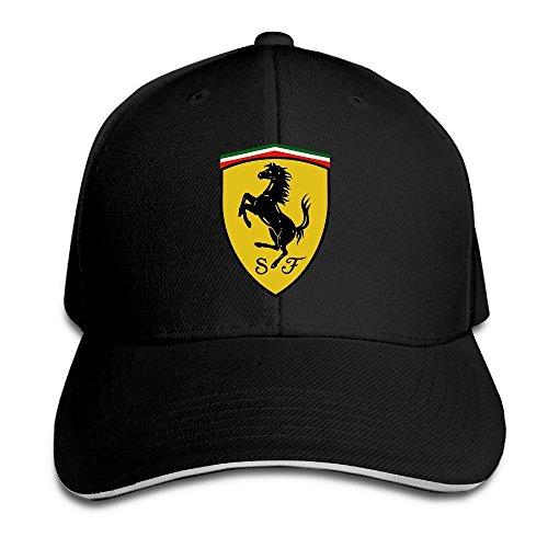 Gorra negra Sandwich Peaked de Ferrari de Yhsuk