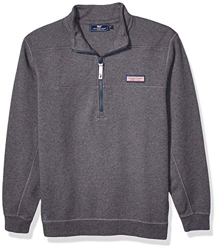 Vineyard Vines Men's Collegiate Shep Shirt Half Zip Pullover, Charcoal, Small