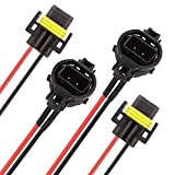 TOMALL 5202 2504 H16 to H11 H8 Pigtail Wires Harness Socket for Fog Light Lamp Conversion Kit(Pack of 2)