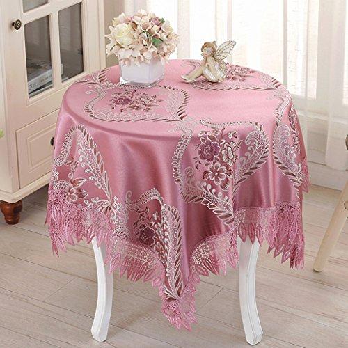 Nappes Nappe carrée, chiffon petit linge de table rond en lin (Couleur : D, taille : 130 * 130cm)