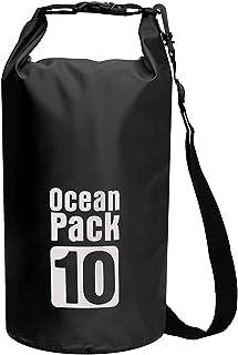 Black PVC Waterproof Dry Bag 10L Diving Foldable Storage Man Women Beach Swimming Bag Rafting River Ocean backpack