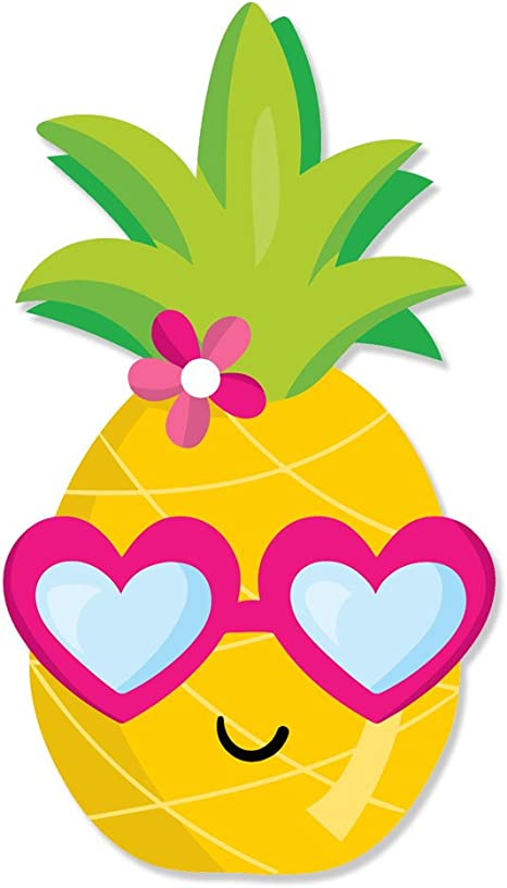 Cute Happy Pineapple Boy Head with Glasses Full Color Vinyl Decal Pack 2 Sided Wrap Sized To Fit an Instant Pot