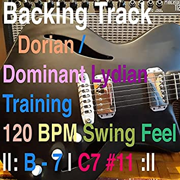 Backing Track Dorian - Dominant Lydian Training B minor