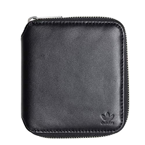 adidas Leather Wallet, Cartera Unisex Adulto, Negro (Negro), 10x5x15 cm (W x H x L)