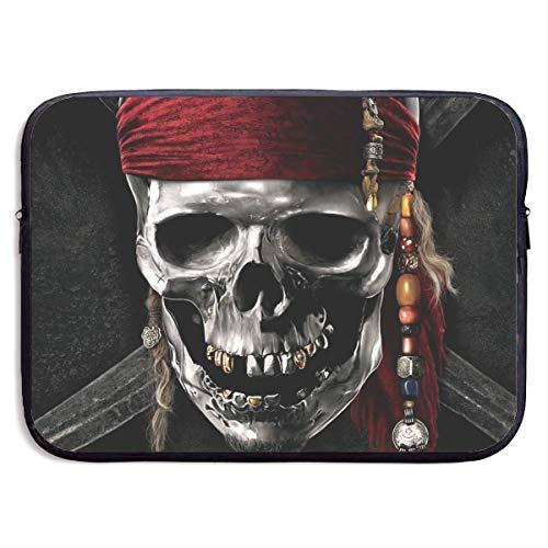 Hdadwy Pirates Caribbean Laptop Sleeve Case Waterproof Notebook Computer Bag Light and Comfortable Tablet Briefcase Band Zipper Portable Handbag