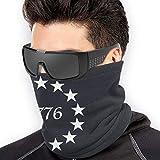 1776 Besty Ross Star Unisex Microfiber Neck Warmer Neck Gaiter Face Mask Bandana Balaclava