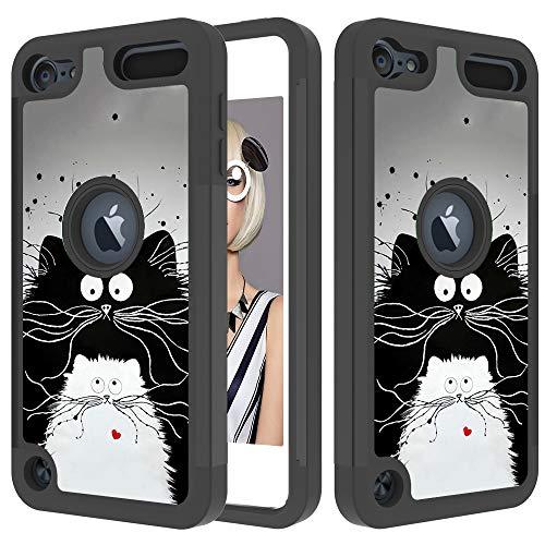 Xifanzi 360 - Funda Protectora para iPhone X Case iPhone XS, Gato Negro Grande, iPod Touch 5/6/7