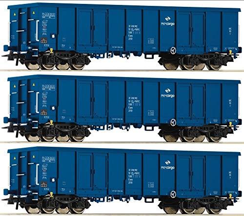 Roco 76128 H0 3er-Set Offene Güterwagen der PKP Cargo