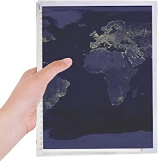 Mystery Space Planet Earth Aerial Map Notebook Loose Leaf Diary Refillable Journal Stationery